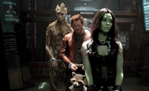 guardians-of-the-galaxy- Groot, Rocket, Star Lord and Gamora