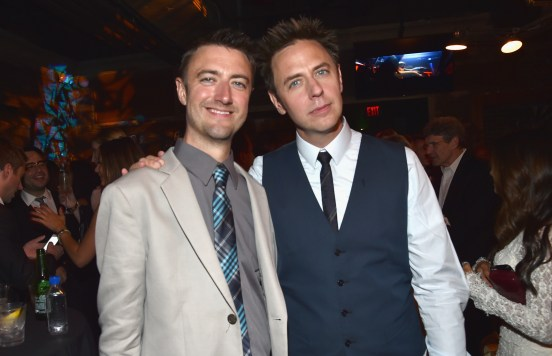Alberto E. Rodriguez/Getty Images Sean and brother James Gunn.