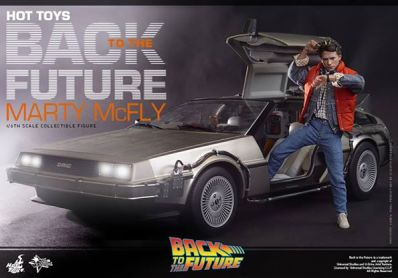 Hot Toys Back to the Future Marty McFly movie poster style