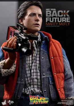 Hot Toys Back to the Future Marty McFly with recorder close up2