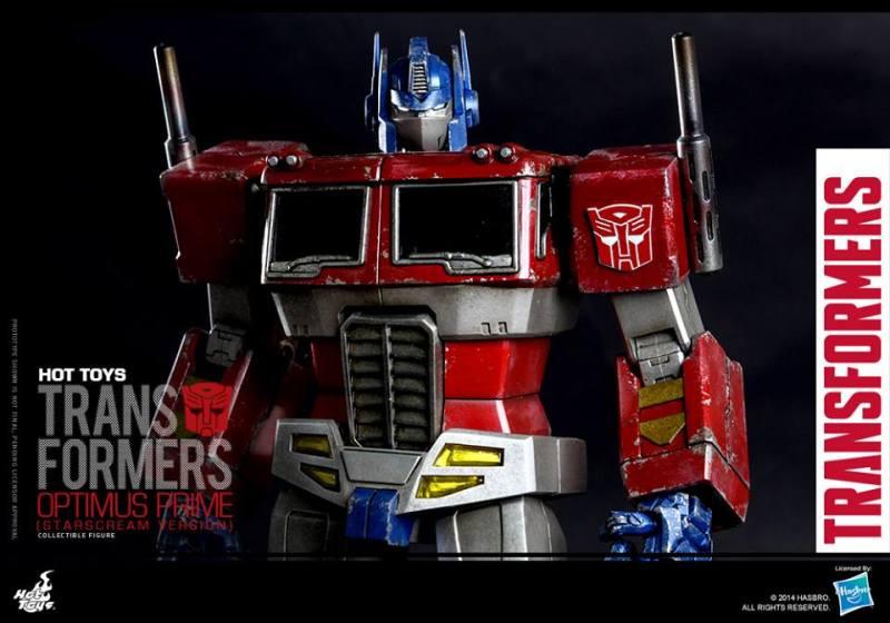 Hot Toys Gen 1 Optimus Prime - Starscream variant - horizontal close up