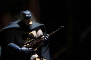 Mezco Dark Knight Returns Batman figure with sniper rifle