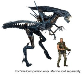 NECA-Alien_Queen figure SCALE with Hicks