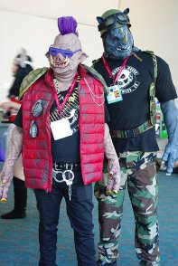 SDCC2014 cosplay - Bebop and Rocksteady