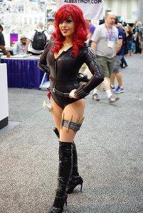 SDCC2014 cosplay - sexy Black Widow