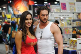 SDCC2014 cosplay - Wonder Girl and Wolverine