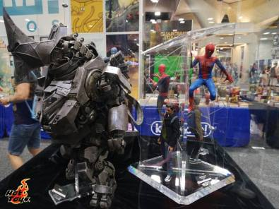 SDCC2014 Hot Toys display - Rhino and Amazing Spider Man 2