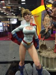 SDCC2014 Sideshow display - Power Girl