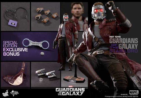 Hot Toys Guardians of the Galaxy - Star Lord accessories main collage