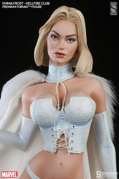 Sideshow Premium Format Emma Frost Hellfire Club - close up 4