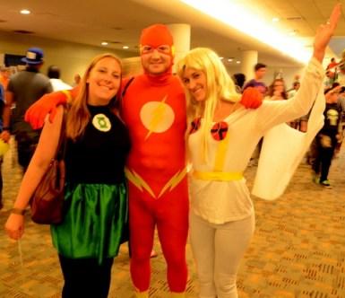 Baltimore Comic Con 2014 - Green Lantern, Flash and Storm