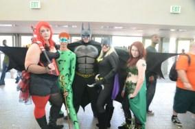 Baltimore Comic Con 2014 - Harley Quinn, Riddler, Batman, Batgirl, Poison Ivy