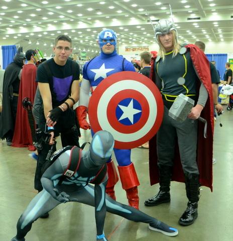 Baltimore Comic Con 2014 - Hawkeye, Captain America, Thor and Spider-Man