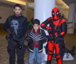 Baltimore Comic Con 2014 - Punisher, Wolverine and Deadpool