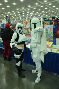 Baltimore Comic Con 2014 - Scout Trooper and white Boba Fett protoype