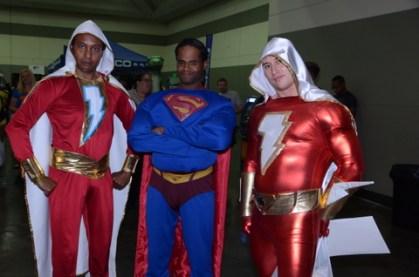 Baltimore Comic Con 2014 - Shazam, Superman and Shazam