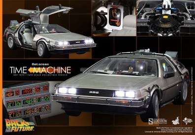 Hot Toys Back to the Future DeLorean collage