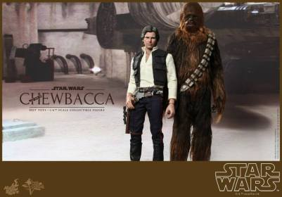 Hot Toys Star Wars Chewbacca - standing with Han