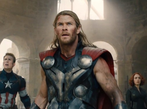 Cap, Thor and Black Widow - The Avengers Age of Ultron