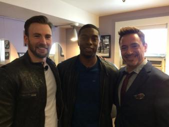 Evans, Boseman and Downey