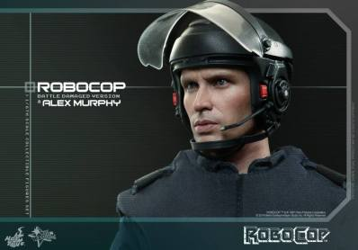 Hot Toys Robocop and Alex Murphy set - Murphy helmet side