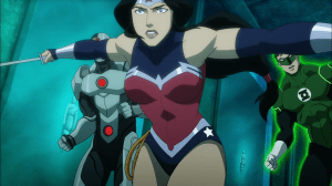 Justice-League-Throne-of-Atlantis-GL, Wonder Woman and Cyborg