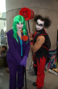 NYCC2014 cosplay - swap Joker and Harley Quinn