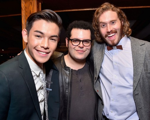 Alberto E. Rodriguez/Getty Images Actors Ryan Potter, Josh Gad and T.J. Miller.
