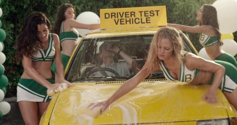 Grown Ups 2 cheerleaders car wash hot cheerleaders washing car