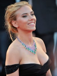 Scarlett-Johansson black dress