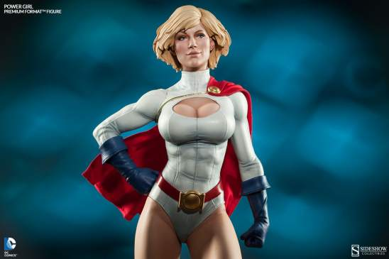 Sideshow Collectibles Power Girl - frontal shot