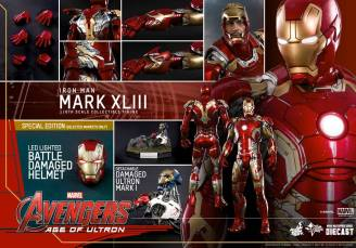 Hot Toys Iron Man Mark XLIII figure - collage