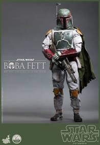 Hot Toys Return of the Jedi Boba Fett figure - greeting pose