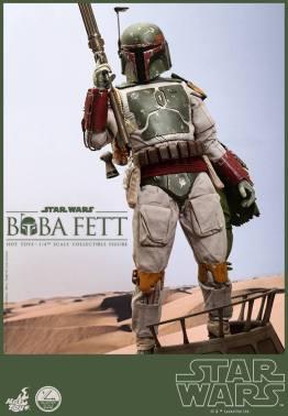 Hot Toys Return of the Jedi Boba Fett figure - standing on sail barge