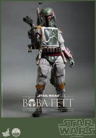 Hot Toys Return of the Jedi Boba Fett figure - taking aim