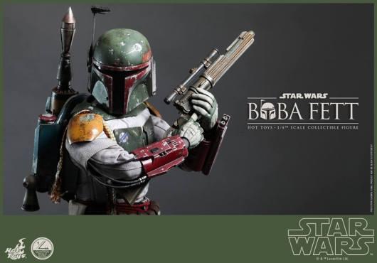 Hot Toys Return of the Jedi Boba Fett figure - tight shot
