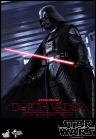 Hot Toys Star Wars Darth Vader figure - side shot with lightsaber