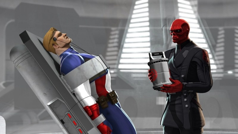 Iron Man and Captain America - Heroes United - Cap and Red Skull