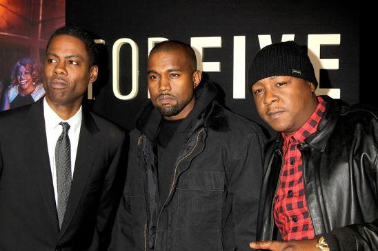 Top-Five-NY-Premiere - Chris Rock, Kanye West and Jadakiss