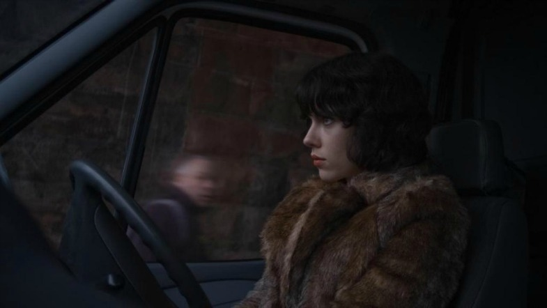 Under the Skin movie - Scarlett Johansson driving