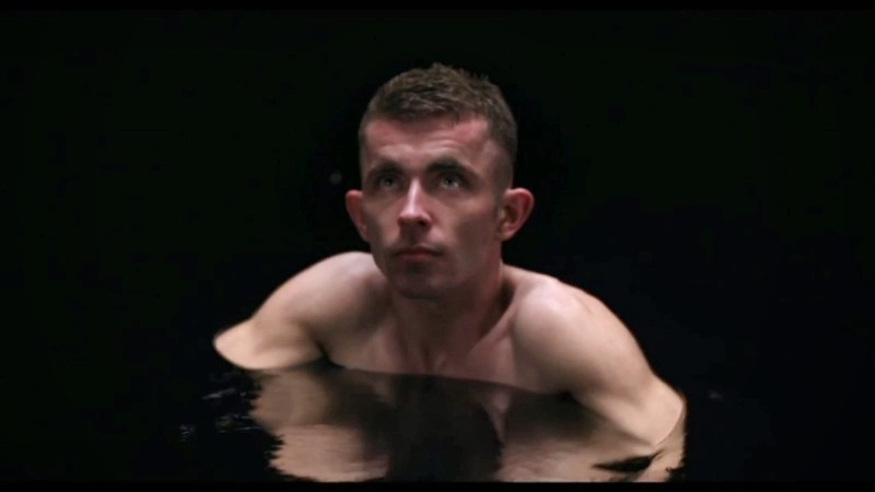 Under the Skin movie - victim in the pool