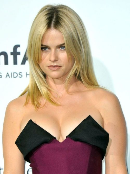 Alice Eve cleavage dress