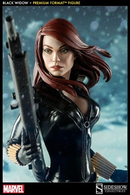 Black Widow - Marvel Premium Format Figure - close up from gun angle