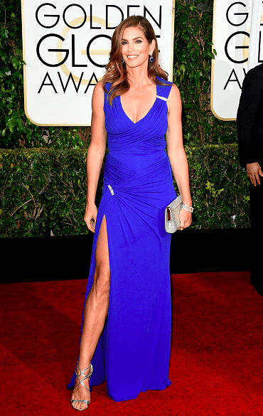 Cindy Crawford 2015 Golden Globes
