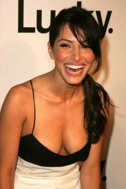 sarah-shahi- hot low dress