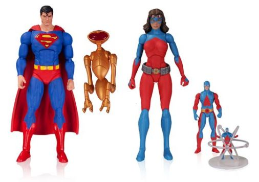 DC Icons 6' Superman and Atomica, Atom and Atom