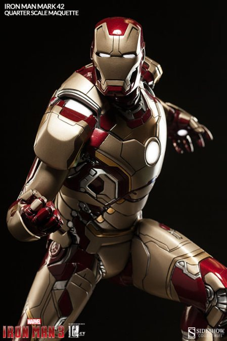 Iron Man Mark 42 maquette - coming at you
