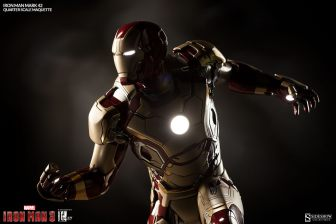 Iron Man Mark 42 maquette - side lighted up