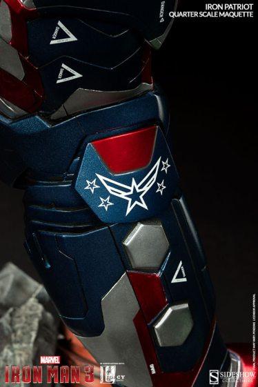 Iron Patriot Quarter Scale Maquette - armor detail