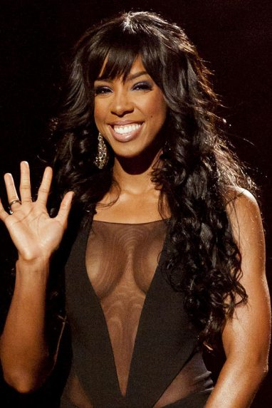 Kelly Rowland - sheer top